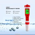 4 in 1 TDS/EC/PH/Temperature  Digital Water Quality Monitor Tester