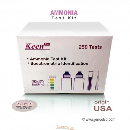 Ammonia Test Kit,  Keen kit USA (NH3, NH4) 250 Test Kit